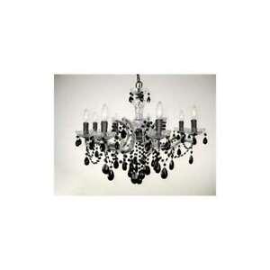 Classic Lighting Rialto Traditional Crystal Chandelier, Chrome - 8348CHCBK