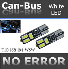 4 pc T10 168 194 Samsung 6 LED Chips Canbus White Replace Map Light Lamps X745