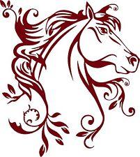 Horse Flowers Tribal Rodeo Cowgirl Western Car Truck Window Vinyl Decal Sticker