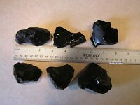 Black Obsidian Mexico Volcanic Glass Rough Rock Jewelry Tumbling Lapidary 1/2 lb