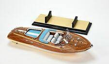 "Riva Aquarama Speed Boat Blue 21"" - Handmade Wooden Model Boat NEW"