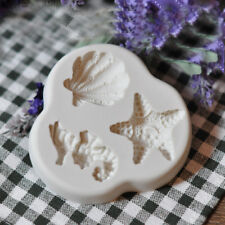 Silicone Sea Horse Shells Fondant Mould Cake Beach Starfish Seashell Icing Mold