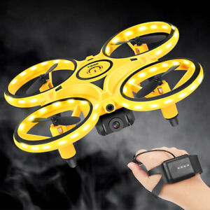 Mini Watch RC Drone Sensing Gesture Infrared Induction Quadcopter Intelligent