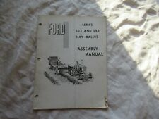 Ford 532 542 hay baler assembly manual