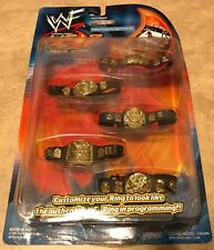 WWE Sunday Night Heat Ring Gear Ser 2 5 Championship Belt 4 Pc Set NEW Sealed