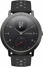 Withings Steel HR Sport-Multi Sport Hybrid Smartwatch Black/Black