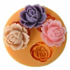 ROSE FLOWER Silicone Fondant Cake Topper Mold Mould Chocolate Candy Baking Tool