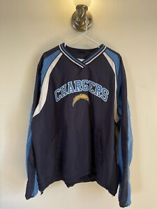 Los Angeles Chargers NFL Pull Over Windbreaker Size XL