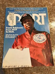 Sport Magazine May 1975 Frank Robinson - Cleveland Indians