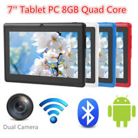 7'' inch 8GB HD Tablet PC Android 4.4 A33 Quad Core WiFi Bluetooth Dual Camera