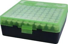 MTM PLASTIC AMMO BOXES (2) GREEN / BLACK 100 Round 9mm / 380 - FREE SHIPPING