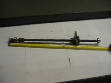 """NSK W1404-205VH Ballscrew 14mm diameter 15"""" Travel w/end bearings and pulley"""