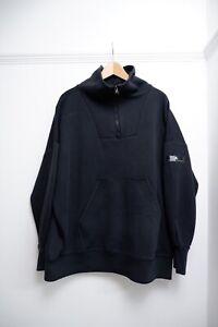 Adidas Stella Mccartney Black Hoodie Size S Small Uk 8-10 Oversized Women's