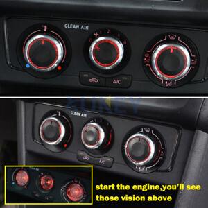 Aluminium Heater Dash Switch Knobs Climate Buttons For VW Polo MK4/MK5 9N 9N3 6R