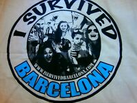 I SURVIVED BARCELONA PUB CRAWL NIGHT CLUB FUNNY TANK SINGLET T-SHIRT Souvenir XL