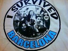 I Survived Barcelona Pub Crawl Night Club Funny Tank Singlet T-Shirt Souvenir Xl