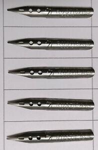 5 Schreibfedern, Pen, Nibs, Plume, Pennini, Kalligraphie BRAUSE & C°