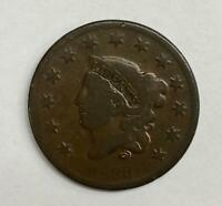 1833 Coronet Head Large Cent 1¢ Fine - Very Fine