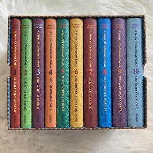 Lemony Snicket A Series of Unfortunate Events Set of Books 1-10 Hardback Boxed