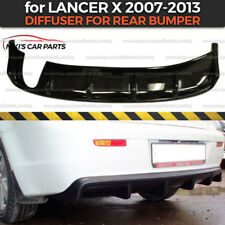 Diffuser for rear bumper Mitsubishi Lancer X 2007-2013 body kit ABS plastic