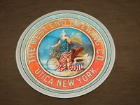 "VINTAGE BAR BEER  13 1/4"" THE WEST END BREWING CO UTICA NY METAL SERVING TRAY"