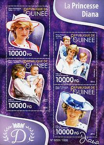 Guinea 2015 MNH Princess Diana 4v M/S Royalty Prince William Prince Harry