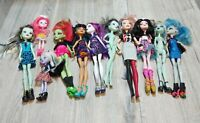 Monster High Doll Lot Of 11 Mattel Dolls USED