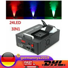 3in1 1500W Stage Smoke Fogger Spray 24 RGB LED Fog Machine Party DMX Wireless DJ