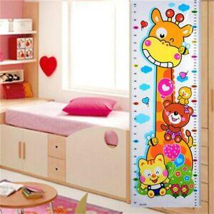 Giraffe Animal Height Chart Wall Sticker Growth Measure Children Kids Room Decal