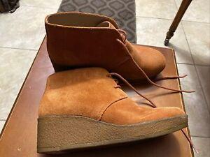 Excellent Clarks Womens Originals Athie Terra Ankle Boot Rust Vintage Suede 8M