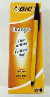 Boite de 20 Stylo bille Orange Bic  Couleur Noir  Neuf  Envoi rapide et suivi