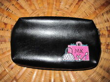 Mary Kay Black Faux Leather Make Up Cosmetic Bag Never Used Inside Pockets
