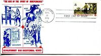 1973 THE RISE OF THE SPIRIT OF INDEPENDENCE SPECIAL CACHET UNADDRESSED FDC