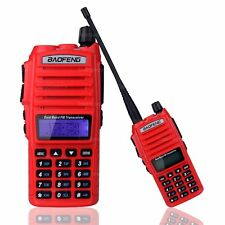 BaoFeng UV-82 VHF UHF Dual-Band 136-174/400-520MHz 2-PTT 5W FM Two Way Radio Red