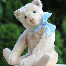 ANTIQUE WHITE STEIFF TEDDY BEAR 1905s  BUTTON EYES VOICE LOVELY HUNCHBACK BEAR