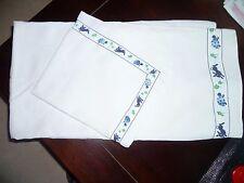 parure de drap coton lin ancien + taie d'oreiller 1 personne