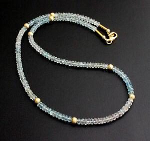 Beryl Necklace Precious Stone Aquamarine Morganite Heliodor Facetted Women's