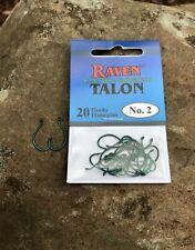 Raven Talon Hooks, Camo Green , One 20 Pack, Size # 6