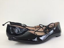 898cfea41b4a New Kate Spade Women s Genie Pointy Toe Lace Up Flats Flat Patent Leather  BLK 6M