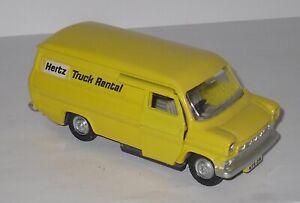 Vintage Dinky Toys Nº 407 - Ford Transit Van - HERTZ TRUCK RENTAL - PROMOTIONAL