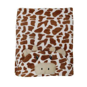 Giraffe Shaped Hooded Newborn Baby Towel Fluffy Soft Warm Fleece Blanket Wrap