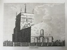 1787 Print of Stewkley Church  Bucks