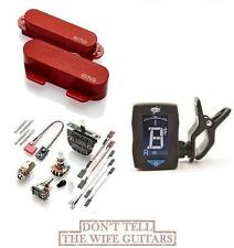 EMG T SET RED 2 TELE PICKUPS FT RT ( GUITAR TUNER ) FENDER TELECASTER REPLACEMET