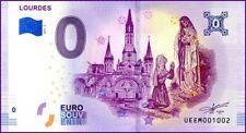 UE EM-2 / LOURDES / BILLET SOUVENIR 0 € / 2019-2