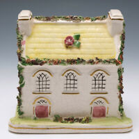 A Staffordshire Pottery Chapel Moneybox c1850
