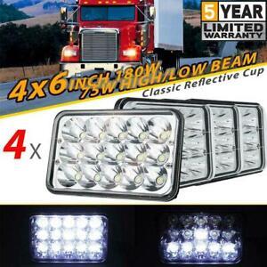 "4PCS LED Headlights 4x6""inch Work Lights HI/LO Beam For FJ80 FZJ80 HZJ80 Toyota"