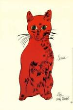 Cat from 25 cats name Sam (Red) by Andy Warhol Art Print Kitten Poster 23.5x35