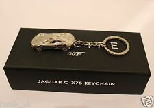 OFFICIAL SPECTRE JAGUAR CX75 CAR SILVER METAL KEYRING JAMES BOND 007 BNIB NEW