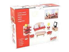 Goki Basic. Wohnzimmer Puppenzimmermöbel 13 Teile