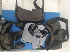 VR Headsets(Set of 4) For Parts Only (Orange VR1, Google Daydream, Oculus Quest)